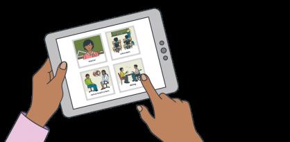 Illustration representing someone using the SECCA App.