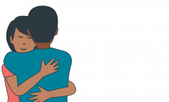 Illustration representing SECCA supporting people with disabilities, in their efforts to learn about human relationships, sexuality and sexual health.