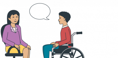 Illustration representing the counselling services that SECCA offers.