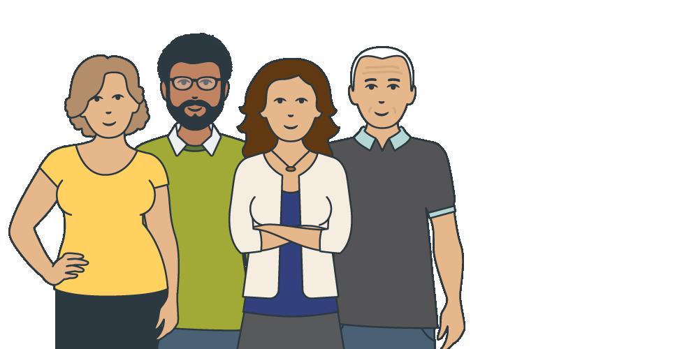 Illustration representing SECCA's Board members.