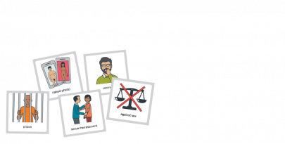 Examples of picture tiles from SECCA's Relationships and Sexuality Resource